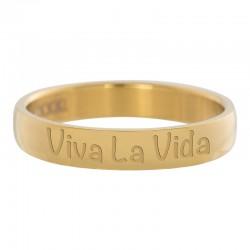 Ring Viva La Vida złoty