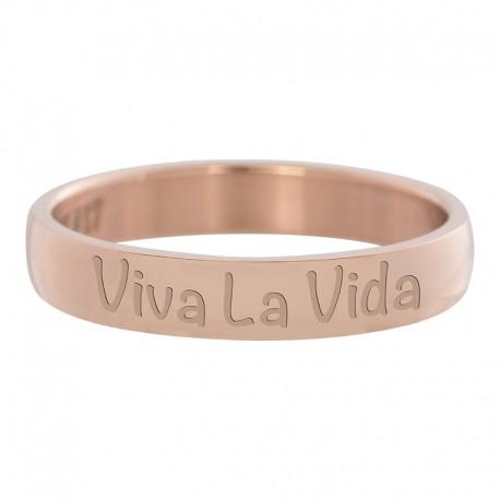 Ring Viva La Vida różowe złoto
