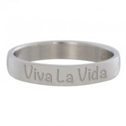 Ring Viva La Vida srebrny