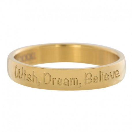 Ring Wish Dream Believe złoty
