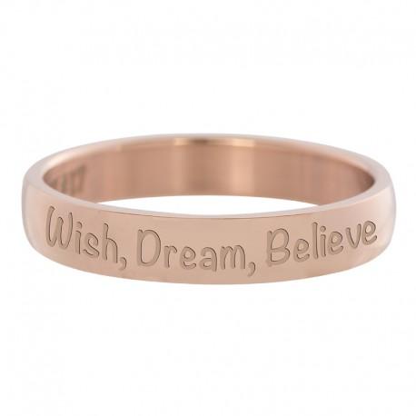 Ring Wish, Dream, Believe różowe złoto