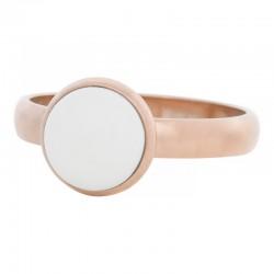 Ring biały kamień 4 mm różowe złoto