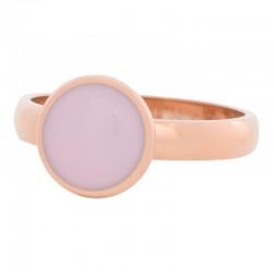 Ring różowy kamień 4 mm różowe złoto