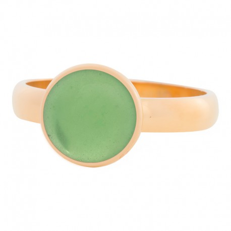 Ring zielony kryształ 4 mm złoty