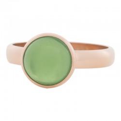 Ring zielony kryształ 4 mm różowe złoto