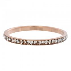 Ring cyrkonia kryształowa 2 mm różowe złoto