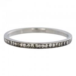 Ring cyrkonia kryształowa 2 mm srebrny