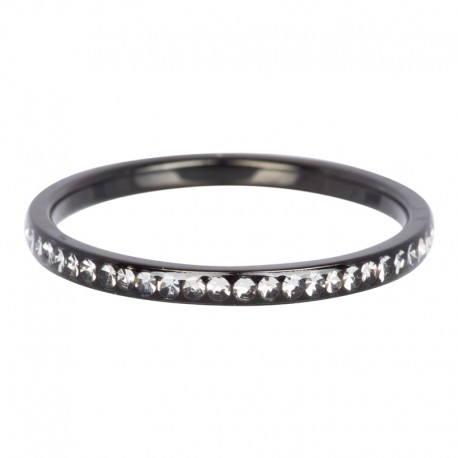 Ring cyrkonia kryształowa 2 mm czarny