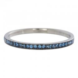Ring cyrkonia szafir 2 mm srebrny