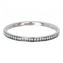 Ring cyrkonia biały opal 2 mm srebrny