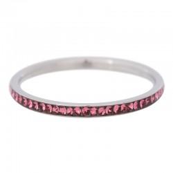 Ring cyrkonia róż 2 mm srebrny