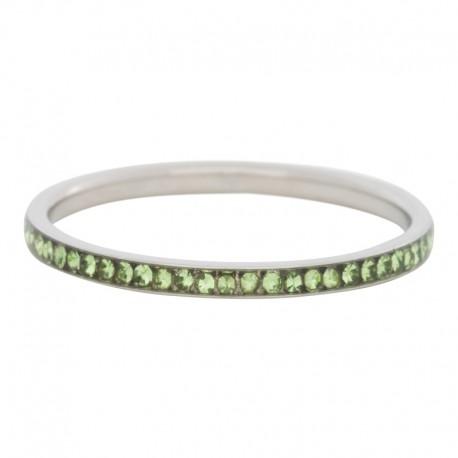 Ring cyrkonia oliwka 2 mm srebrny
