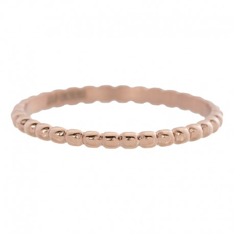 Ring kulki 2 mm różowe złoto