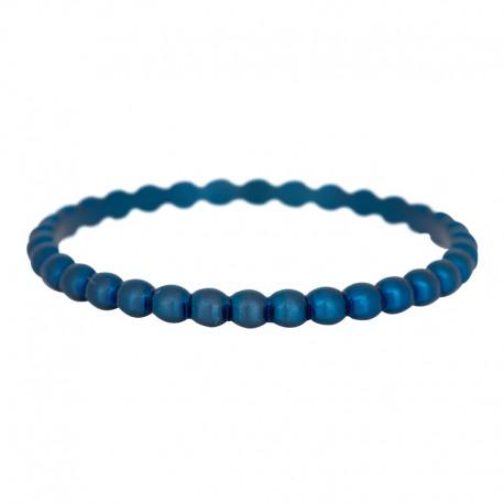 Ring kulki 2 mm niebieski