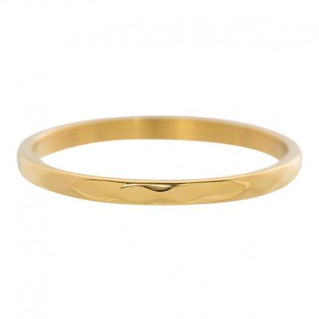 Ring młotkowany 2 mm złoty