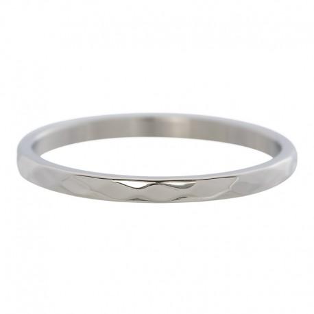 Ring młotkowany 2 mm srebrny