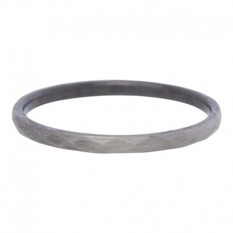 Ring młotkowany 2 mm antyczny