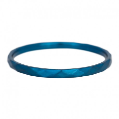 Ring młotkowany 2 mm niebieski