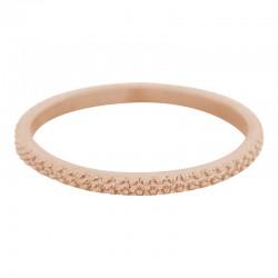 Ring kawior 2 mm różowe złoto