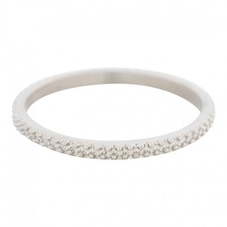 Ring kawior 2 mm srebrny
