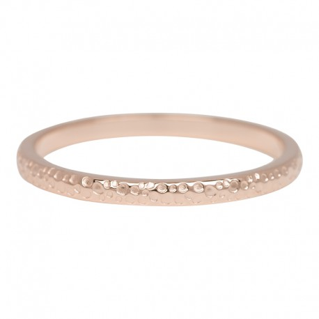 Ring dancer 2 mm różowe złoto