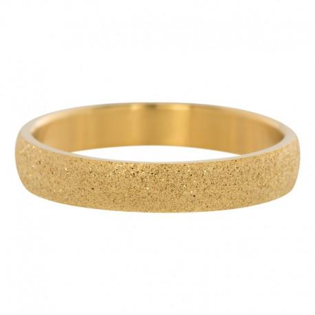 Ring piaskowany 4 mm złoty