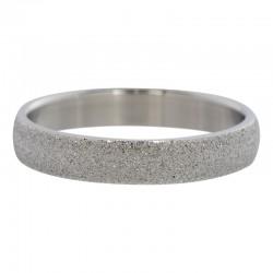Ring piaskowany 4 mm srebrny