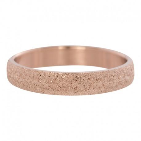 Ring piaskowany 4 mm różowe złoto