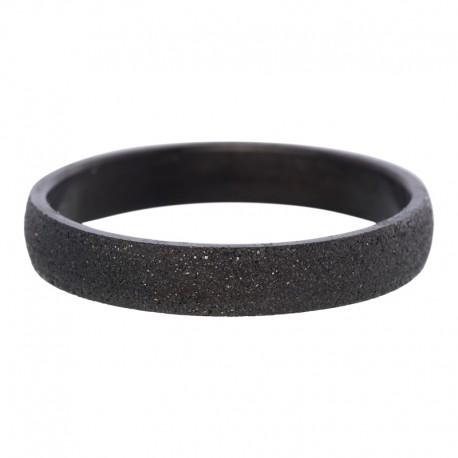 Ring piaskowany 4 mm czarny