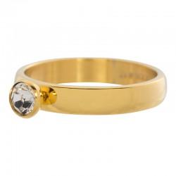 Ring 1 oczko cyrkonia 4 mm złoty