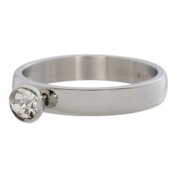 Ring 1 oczko cyrkonia 4 mm srebrny