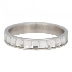 Ring szkło bezbarwne 4 mm srebrny