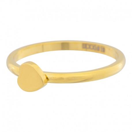 Ring symbol serce 2 mm złoty