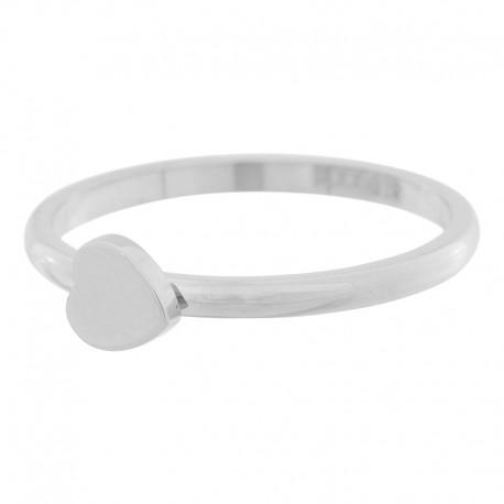 Ring symbol serce 2 mm srebrny