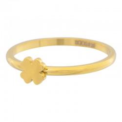 Ring symbol koniczyna 2 mm złoty