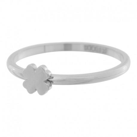 Ring symbol koniczyna 2 mm srebrny