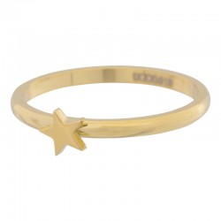 Ring symbol gwiazda 2 mm złoty