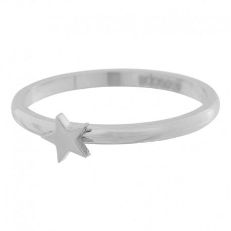 Ring symbol gwiazda 2 mm srebrny