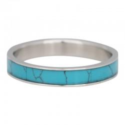 Ring turkusowy kamień 4 mm srebrny