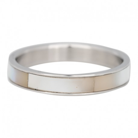 Ring muszla 4 mm srebrny