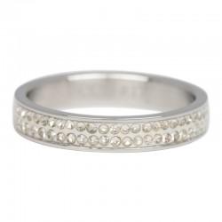 Ring podwójna cyrkonia 4 mm srebrny