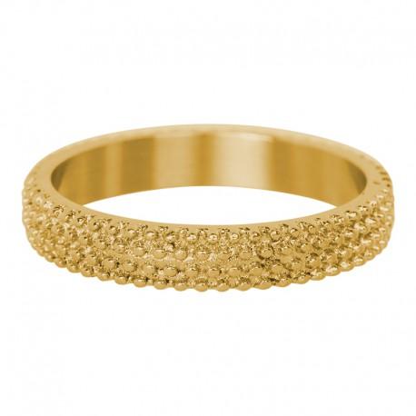 Ring kawior 4 mm złoty