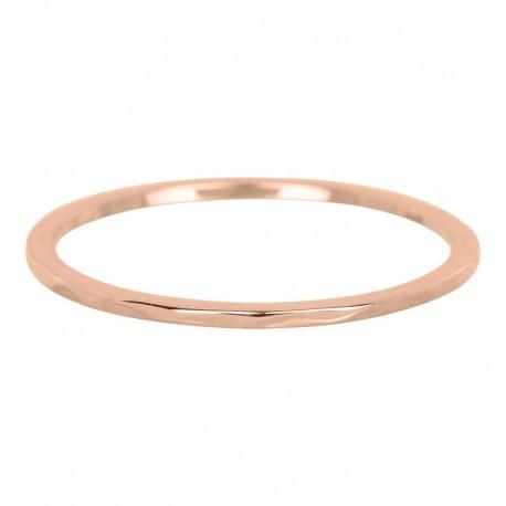 Ring fala 1 mm różowe złoto