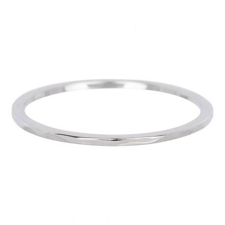 Ring fala 1 mm srebrny
