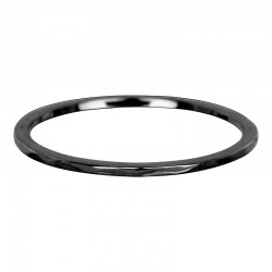 Ring fala 1 mm czarny
