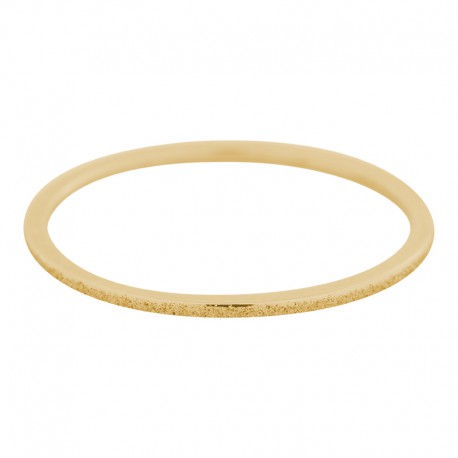 Ring piaskowany 1 mm złoty