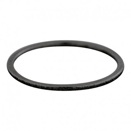 Ring piaskowany 1 mm czarny