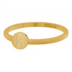 Ring litera K 2 mm złoty/różowe złoto/srebrny