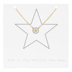 Naszyjnik łańcuszek gwiazdka złoty