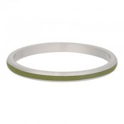 Ring oliwkowa linia 2 mm srebrny